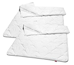 sleepling 2er Set 191129 Basic 160 Bettdecke Mikrofaser 4-Jahreszeiten 135 x 200 cm, weiß