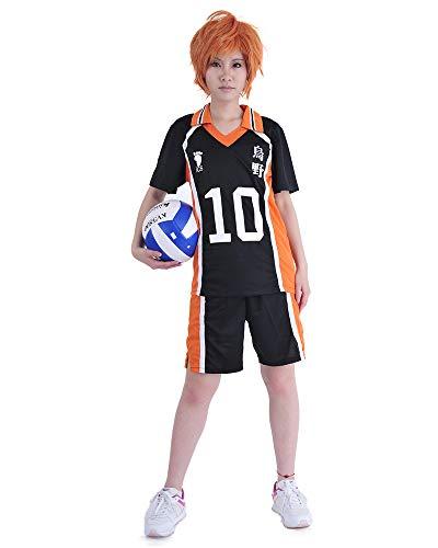 Miccostumes 男女兼用 烏野高校 日向翔陽 コスプレ 衣装 半袖 制服 スポーツウェア (XL)