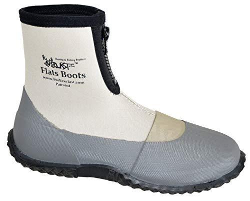 ForEverlast Unisex-Adult Gen Flats Lightweight Neoprene Rubber Boots Generation II for Fishing & Wading, Size 14, Water Resistant, for Men & Women, Grey