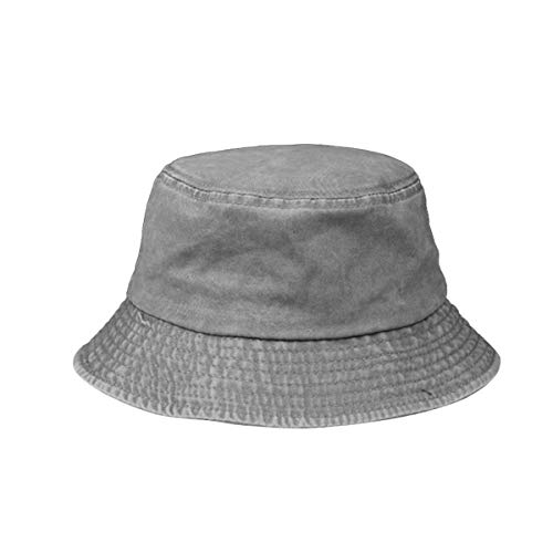 ACVIP Unisex Little Boy Girl Solid Breathable Sun Protection Bucket Hat
