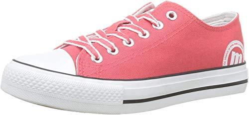 MTNG 13991 - Zapatillas para Mujer, Rojo (Canvas 3 Coral C45988) 39 EU