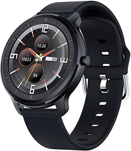 Smart Watch Fitness Tracker reloj y IP67 impermeable Bluetooth reloj inteligente Actividad Tracker pulsera inteligente-negro