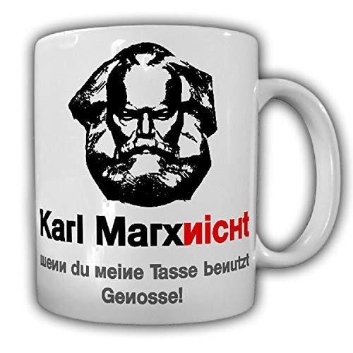Karl Marx nicht wenn du meine Tasse benutzt Genosse Kapitalismus -Tasse #25925