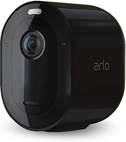 Arlo Pro3 VMC4040B Telecamera Aggiuntiva 2K HDR, per Sistema di Videosorveglianza Wi-Fi, Audio 2 Vie, Visione Notturna a Colori, Faro e Sirena Integrati, Visione 160°, Interno/Esterno, Nero