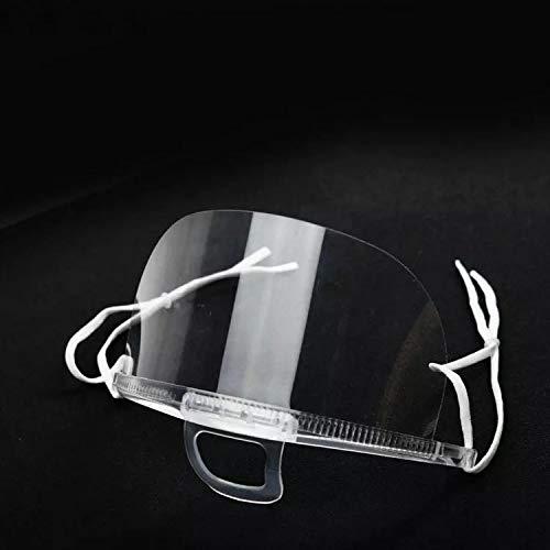 SR=CN 10pc Kunststoff Transparent Umwelt Mund-Maske For Restaurant Microblading Zubehör Tattoo-Tools Permanent Make-up Zubehör (Color : Transparent)