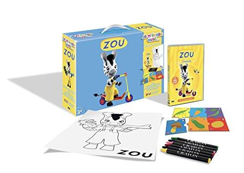 Zou-Je m'éveille avec. (DVD+Puzzle+6 Crayons Pastels + Poster)