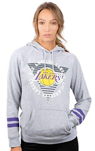 Ultra Game NBA Boston Celtics Womens Soft Fleece Pullover Hoodie Sweatshirt With Varsity Stripe, Heather Gray, Small