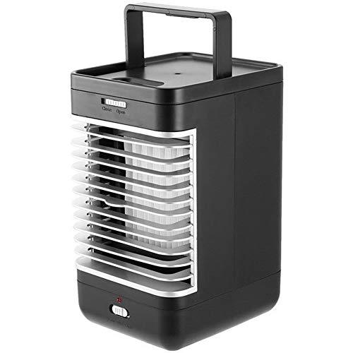 YEZIB Ventilador del circulador de Aire- Mini Aire Acondicionado, Ventilador de Mesa con Ventilador, Humidificador Mini Equipo de Refrigeración por Aire Portátil