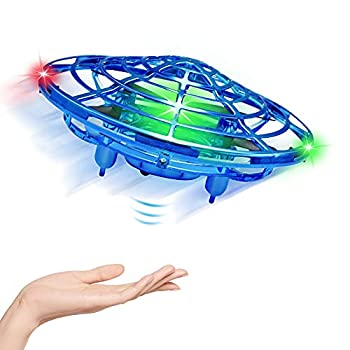 UFO Flying Ball Toys Gravity Defying Hand-Controlled Suspension Helicopter Toy Infrared Induction Interactive Drone Indoor Flyer Toys with 360° Rotating & LED Lights For Kids Teenagers Boys Girls
