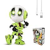 FUTU SMART Kinder Roboter Spielzeug ab 3 4 5 Jahre Jungen Mädchen, wiederaufladbare Aufnahme Spielzeug Roboter, LED-Augen & Touch-Steuerung, Kinder Geburtstags Geschenk (Grün)