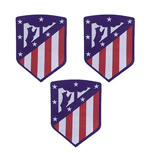 3 piezas Atletico Madrid Parches Coser / Planchar en Fútbol Club Emblema Accesorios de apliques deportivos Decoración Parches para jeans Chaqueta Ropa Bolso Zapatos Gorras