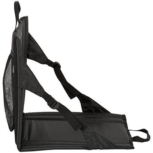 Highlander Folding Outdoor Sit Mat Lightweight Padded Portable Stadium Seat ideal for Walking, Picnics, Camping, Hiking or Festivals (Black)