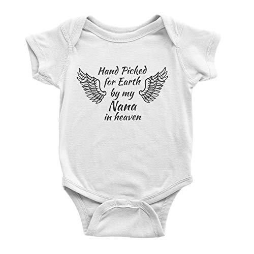 Body unisexe à manches courtes pour bébé - Imprimé amusant avec phrase graphique - Body une pièce pour bébé garçon et fille - Choisie à la main pour la terre par My Nana in Heaven
