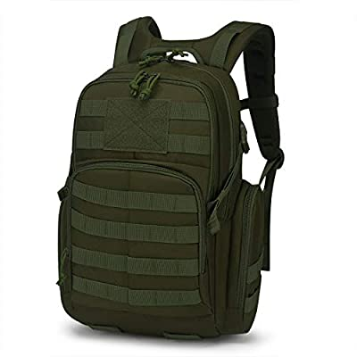 Mardingtop 25L Tactical Backpacks Molle Hiking daypacks for Motorcycle Camping Hiking Military Traveling 25L-Army Green
