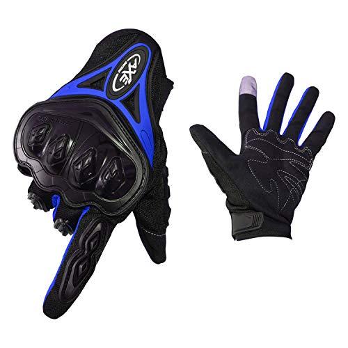 FitTrek Guantes Moto Mujer Hombre - Guantes Motocross Carretera Unisex- Guantes de Moto Pantalla Táctil - Guantes Carretera Motos para Escalada, Senderismo y Otros Deportes Al Aire Libre