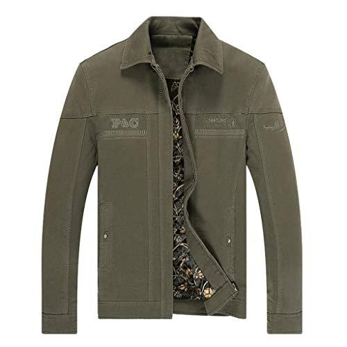 Uqiangy Men's Cotton Sport Hooded Warm Sherpa Lined Jacket Big and Tall Full Zip Winter Outwear(Green,XXXL)