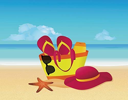 MQPPE Tropical Summer DIY Jigsaw Puzzles, Beach Bag Flip Flops Sun Hat and Sunglasses 1000 Pieces Wooden Puzzles Best Family Funny Decompression Games for Adults and Kids, 20 x 30 Inches