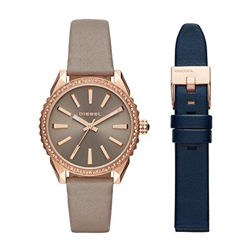 Diesel Damen Analog Quarz Uhr mit Leder Armband DZ5563