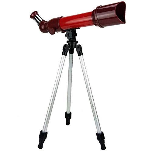 JKUNYU Abacus Toy HD Refractómetro astronómico telescopio de escritorio con trípode para principiantes, vista del cielo para ver juguetes educativos (color: rojo) (color: rojo)