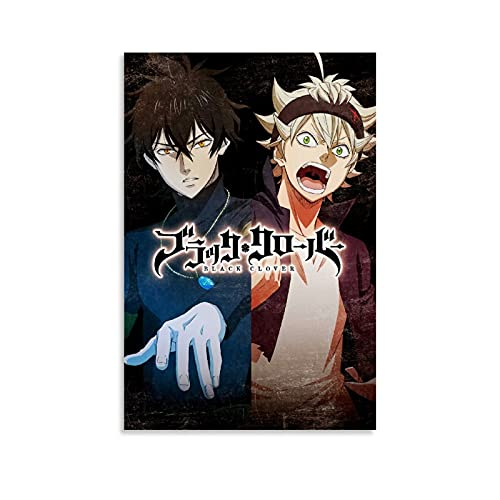 SUPOWER Asta Yuno Black Clover Anime Poster Decorative Painting Canvas Wall Art Living Room Posters Bedroom 12x18inch(30x45cm)