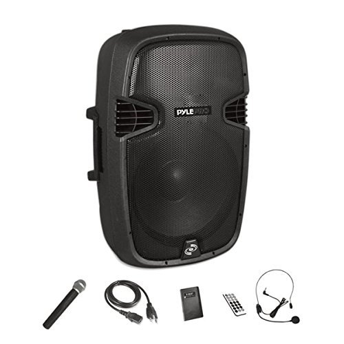 """Wireless Portable PA Speaker System - Compatible with Bluetooth, Active Loudspeaker, 1000 Watt Powered 2-Way Waterproof Amplifier, 12"""" Subwoofer, Tweeter, RCA, XLR, Mic In for Dj & Party - PPHP1241WMU"""