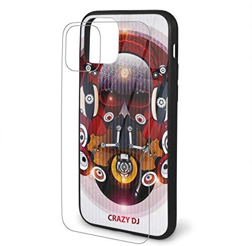 Diseño con Fantastic DJ Compatible para iPhone 11 Estuche Hard Pc + Soft TPU Protector a Prueba de Golpes Thin Phone Cover Pro Max-iphone11Pro-