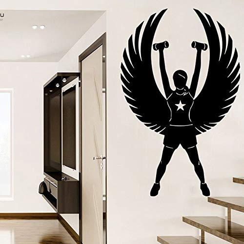 Tianpengyuanshuai muurstickers, fitness, wanddecoratie, slaapkamer, meisjes, sport, vinyl, afneembaar, jeugdig, muurstickers