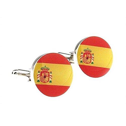 Bouton de manchette drapeau Espagne