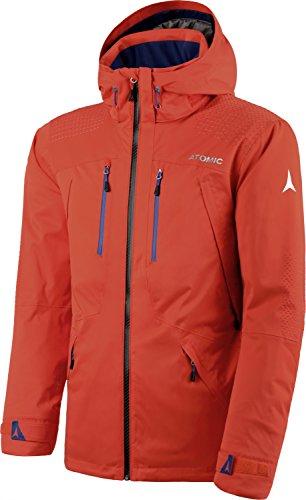 Atomic, Herren Ski-Jacke, Wasserdicht, Atmungsaktiv, Stretch, Alps Jacket, Größe: S, Orange-Rot, AP5027730