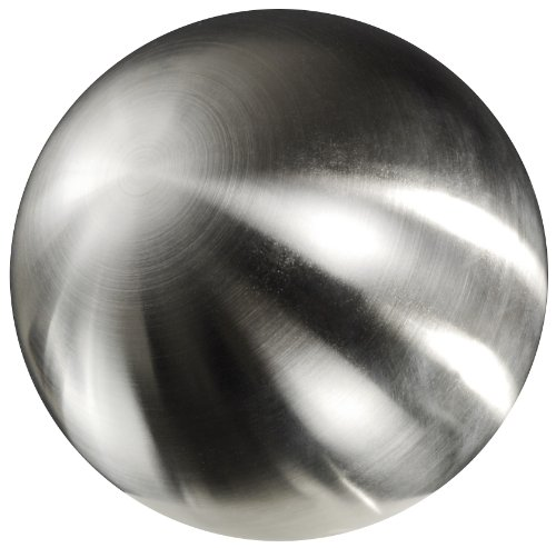Edelstahlkugel, Hohlkugel. Farbe: gebürstet, matt, Silber. Durchmesser ca 120 mm / 12 cm.