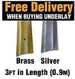 Carpet Metal Cover Strip, Door Bar Trim - Silver by Flooring Online UK