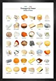 1art1 Käse Poster und MDF-Rahmen - Käse Aus Frankreich