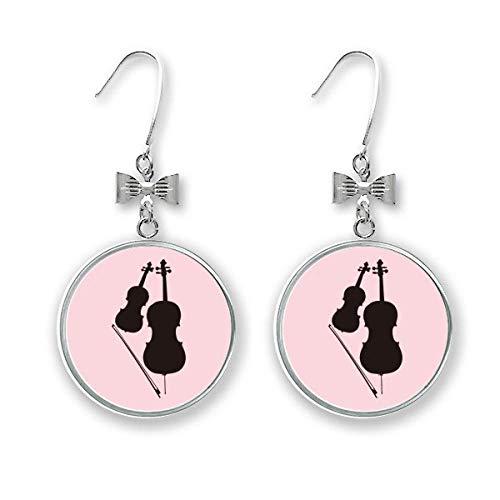 Ohrstecker, klassisches Instrument, Violinenbogen