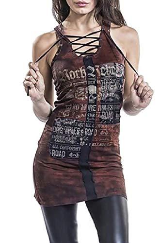Vestido de Mujer Punk gótica - Rock - rebelde - Vestido Sexy Corto -
