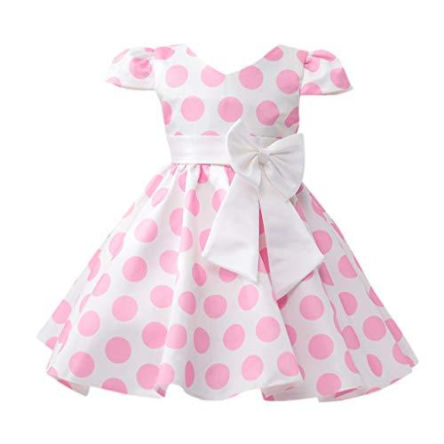 Julhold Kinder Baby Mädchen Elegant Blume Punkt Bogen Prinzessin Party Leistung Formell Schlank Polyester Tutu Kleid 1-6 Jahre