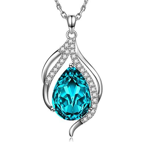 Muttertag Geschenke Damen Halskette TOJEAN \'Teardrop of Angel\' Anhänger Halskette für Damen mit Kristall Swarovski, Schmuck für die Mutter, Geschenke für Damen