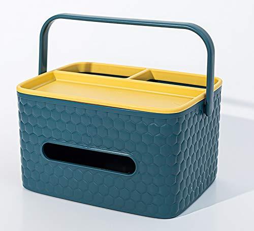 speoww Caja De Pañuelos Multifuncional De Lujo Ligero, Caja De Almacenamiento para Sala De Estar Doméstica, Adecuada para Sala De Estar, Dormitorio, Oficina, Lavabo, Etc.