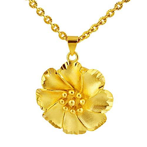 Blumen-Halsketten für Frauen, modisch, vergoldet, hohl, Blumen-Anhänger, Halskette, Schmuck, Geschenk