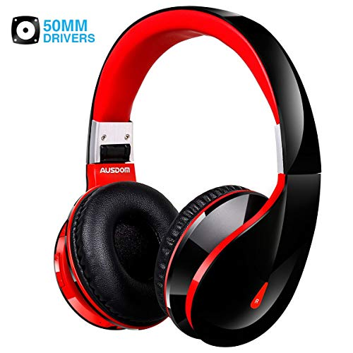 Bluetooth Headphones Wireless Over Ear Headphones with Microphone ausdom Foldable Wired Headphones