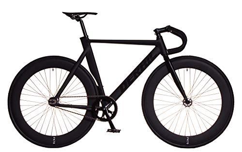 FK Cycling Bicicleta Fixie Aluminio derail llanta 70mm Negra (Drop, M 520)