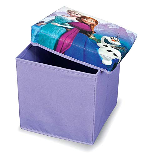Domopak Living 8001410074799 Ottoman Pouf Small Disney, Plastique, Multicolore, 30 x 30 x 30 cm