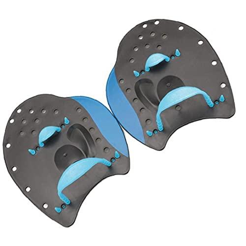 Guantes de entrenamiento de natación paletas guantes de remo entrenamiento Fit Engranaje de la aptitud azul L de canotaje, kayak, natación, pesca, surf, playa
