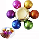 DoDoMagxanadu Rainbow Fidget Spinner Metal Colorful Balls Anti-Spinner Anti Anxiety Toys ADHD Relieve Stress Toys for Children and Adults