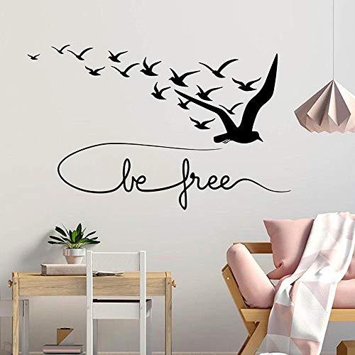 Sí, pájaro, calcomanía de pared, palabras motivacionales, arte de animales, puertas y ventanas, pegatinas de vinilo para adolescentes, dormitorio, sala de estar, decoración del hogar