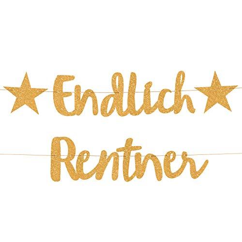 Compagno ENDLICH Rentner Girlande goldene Ruhestand Party Rente Abschiedsfeier Pensionionär Senior Privatmann