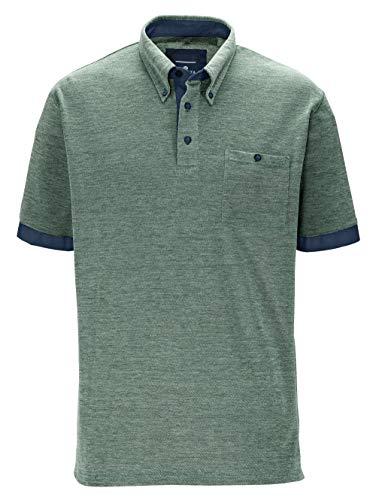 BABISTA Herren Regular Fit Poloshirt in Grün aus Baumwolle mit Button-Down-Kragen