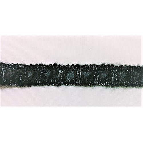 TOMASELLI MERCERIA hoofdband halve wol donkergrijs hoog 2 cm