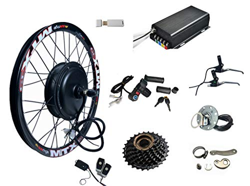 26' 3000W Electric Bike Conversion Kit with 48/60/72V 3000W Brushless DC Motor/E-Bike Conversion Kit (26inch Rear)