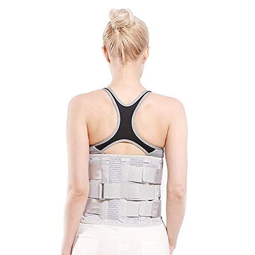 ZFF Soporte Lumbar Cinturón con 3 Retirable Almohadilla Inferior Atrás Apoyo para Dolor...