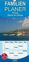Tuerkei - Reise ins Blaue - Familienplaner hoch (Wandkalender 2022 , 21 cm x 45 cm, hoch): Tuerkei - malerische Kueste und blaues Meer (Monatskalender, 14 Seiten )